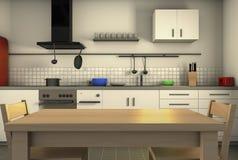 Μια homely κουζίνα ελεύθερη απεικόνιση δικαιώματος