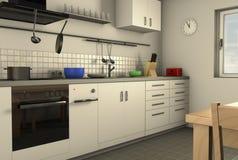 Μια homely κουζίνα απεικόνιση αποθεμάτων