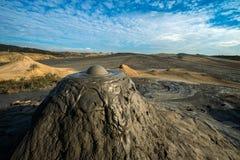 Μια selenar άποψη στο ηφαίστειο λάσπης Στοκ φωτογραφία με δικαίωμα ελεύθερης χρήσης