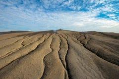 Μια selenar άποψη στο ηφαίστειο λάσπης Στοκ εικόνα με δικαίωμα ελεύθερης χρήσης