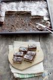 Μικρά κέικ lamington Στοκ Εικόνες