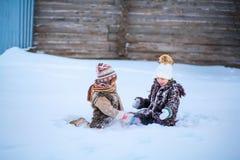 Μικρά κορίτσια ευτυχή Στοκ Εικόνα
