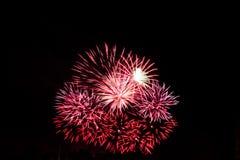 Μικρά κόκκινα πυροτεχνήματα στοκ φωτογραφία με δικαίωμα ελεύθερης χρήσης