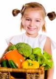 μικρά λαχανικά κοριτσιών Στοκ φωτογραφίες με δικαίωμα ελεύθερης χρήσης