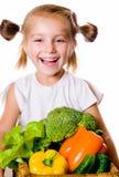 μικρά λαχανικά κοριτσιών Στοκ Εικόνες