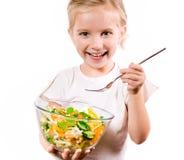 μικρά λαχανικά κοριτσιών Στοκ Φωτογραφία
