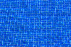 Μικρά μπλε κεραμίδια λιμνών διαταραγμένα ελαφρώς από τους κυματισμούς στο νερό Στοκ Εικόνα