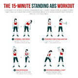 15 μικρά μόνιμα ABS workout Στοκ Εικόνες