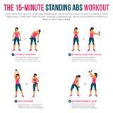 15 μικρά μόνιμα ABS workout Στοκ εικόνα με δικαίωμα ελεύθερης χρήσης