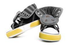 μικρά πάνινα παπούτσια στοκ εικόνα