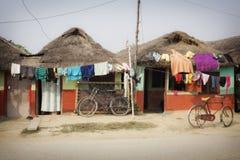 Μικρά παραδοσιακά σπίτια αργίλου Lumbini Στοκ εικόνα με δικαίωμα ελεύθερης χρήσης