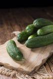 Μικρά πράσινα αγγούρια Στοκ Εικόνα