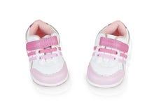 Μικρά ρόδινα παπούτσια Στοκ Εικόνες