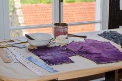 Μικρά υφαντικά dyers manufactory Στοκ Φωτογραφία