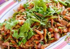 Μικρές γαρίδες σαλάτας Στοκ φωτογραφία με δικαίωμα ελεύθερης χρήσης