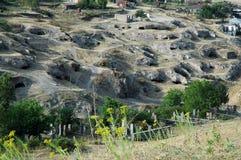 Μικρές είσοδοι σπηλιών σε Tegh, Ναγκόρνο-Καραμπάχ, Αρμενία Στοκ εικόνες με δικαίωμα ελεύθερης χρήσης