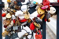 Μικρές κλειδαριές μετάλλων Στοκ φωτογραφία με δικαίωμα ελεύθερης χρήσης