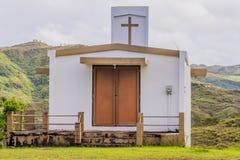 Μικρή άσπρη εκκλησία χωρών στο Γκουάμ Στοκ Εικόνα