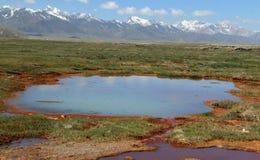 Μικρή λίμνη σε ένα έλος με τη σκουριά στοκ φωτογραφίες με δικαίωμα ελεύθερης χρήσης