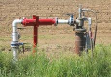 Μικρή αγροτική τοποθέτηση σωληνώσεων συλλογής αερίου Στοκ φωτογραφίες με δικαίωμα ελεύθερης χρήσης