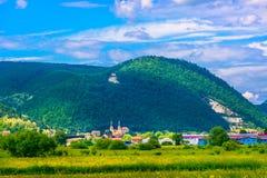 Μικρή γραφική πόλη στην περιοχή Zagorje, Pregrada στοκ εικόνα