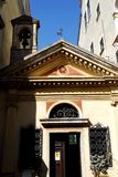 Μικρή εκκλησία με ένα ενιαίο κουδούνι σε Oderzo στην επαρχία του Treviso στο Βένετο (Ιταλία) Στοκ εικόνες με δικαίωμα ελεύθερης χρήσης