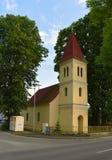 Μικρή εκκλησία στο χωριό Cerveny Klastor Στοκ φωτογραφίες με δικαίωμα ελεύθερης χρήσης