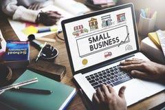 Μικρή επιχειρηματική έννοια μάρκετινγκ επιχειρησιακής στρατηγικής Στοκ Φωτογραφίες