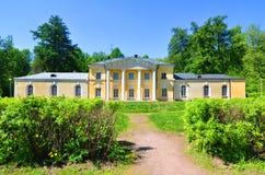 Μικρή ιδιοτροπία ` παλατιών ` στο μουσείο κτημάτων Arkhangelskoye κάνετε το σημάδι της Ρωσίας περιοχών της Μόσχας σκέφτεται τι εσ Στοκ Εικόνες