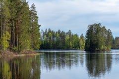 Μικρή λίμνη αλιείας στη Σουηδία στοκ φωτογραφία με δικαίωμα ελεύθερης χρήσης