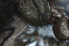 Μικρή λίμνη νερού με το ρεύμα που ρέει μέσα στοκ εικόνες με δικαίωμα ελεύθερης χρήσης