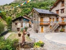 Μικρή μεσαιωνική πόλη Tavascan, περιοχή Pallars Sobira Καταλανικά Πυρηναία r στοκ φωτογραφίες με δικαίωμα ελεύθερης χρήσης
