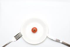 μικρή ντομάτα πιάτων Στοκ εικόνα με δικαίωμα ελεύθερης χρήσης