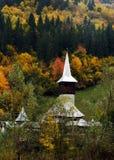Μικρή ξύλινη εκκλησία από Maramures, Ρουμανία Στοκ Εικόνα
