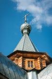 Μικρή ξύλινη εκκλησία σε Sergeevo, Palekh, περιοχή του Βλαντιμίρ, της Ρωσίας Στοκ Φωτογραφία
