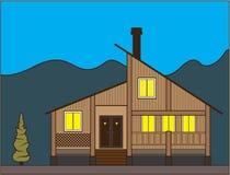 Μικρή ξύλινη καμπίνα απεικόνιση αποθεμάτων