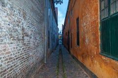 Μικρή οδός στην πόλη Helsingor στη Δανία στοκ φωτογραφία με δικαίωμα ελεύθερης χρήσης