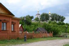 Μικρή οδός σε Sviyazhsk, Ρωσία Στοκ εικόνα με δικαίωμα ελεύθερης χρήσης