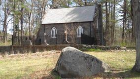 Μικρή παλαιά εκκλησία στη Νέα Αγγλία στοκ φωτογραφία με δικαίωμα ελεύθερης χρήσης