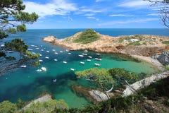 Μικρή παραλία του S ` Eixugador κοντά στο όμορφο χωριό και παραλία του τόνου Sa στο Λα Κόστα Μπράβα `, Μεσόγειος, Καταλωνία, Ισπα Στοκ εικόνες με δικαίωμα ελεύθερης χρήσης
