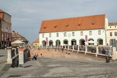 Μικρή πλατεία του Sibiu Στοκ Εικόνες