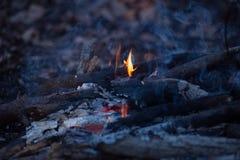 Μικρή πυρά προσκόπων το βράδυ στοκ εικόνες με δικαίωμα ελεύθερης χρήσης