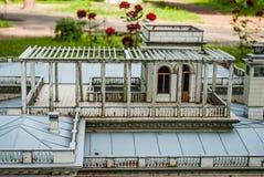 Μικρή πόλη από την προοπτική ενός πουλιού Στοκ Φωτογραφίες
