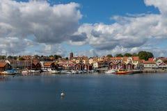 Μικρή πόλη αλιείας Στοκ φωτογραφία με δικαίωμα ελεύθερης χρήσης