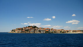 Μικρή πόλη στην Κροατία Στοκ Εικόνες