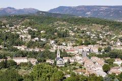 Μικρή πόλη στη Γαλλία (Ardeche) Στοκ φωτογραφία με δικαίωμα ελεύθερης χρήσης