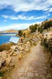 Μικρή πόλη στο νησί του ήλιου στοκ εικόνα με δικαίωμα ελεύθερης χρήσης