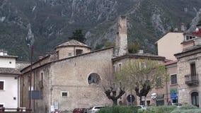 Μικρή πόλη του Abruzzo degli Anversa στην επαρχία του l'Aquila, Abruzzo Ιταλία φιλμ μικρού μήκους