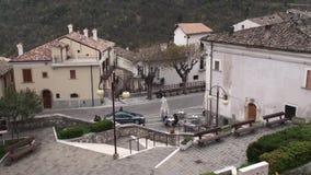 Μικρή πόλη του Abruzzo degli Anversa στην επαρχία του l'Aquila, Abruzzo Ιταλία απόθεμα βίντεο