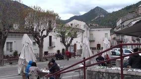 Μικρή πόλη Anversa στην επαρχία του l'Aquila, Abruzzo Ιταλία απόθεμα βίντεο